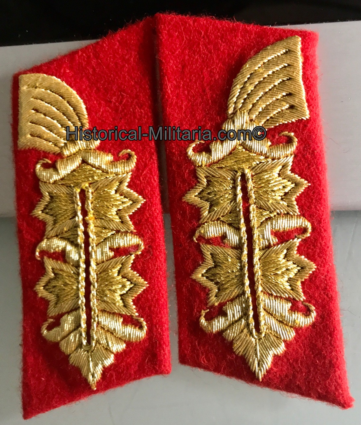GENERAL Wehrmacht Schulterklappen Set +Kragenspiegel - German Army Lieutenant General shoulder board set +collar tabs - Set spalline e mostrine da Generale dell'esercito tedesco heer