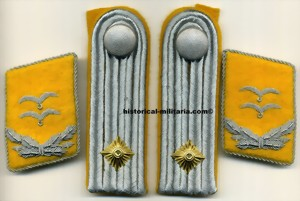 Luftwaffe Kragenspiegel Oberleutnant Flieger Flight collar tabs SET with matching shoulder straps
