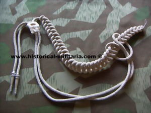 Fangschnur f�r Adjudanten/ ADJUDANT'S Aiguillette in matte alu bullion wire cords